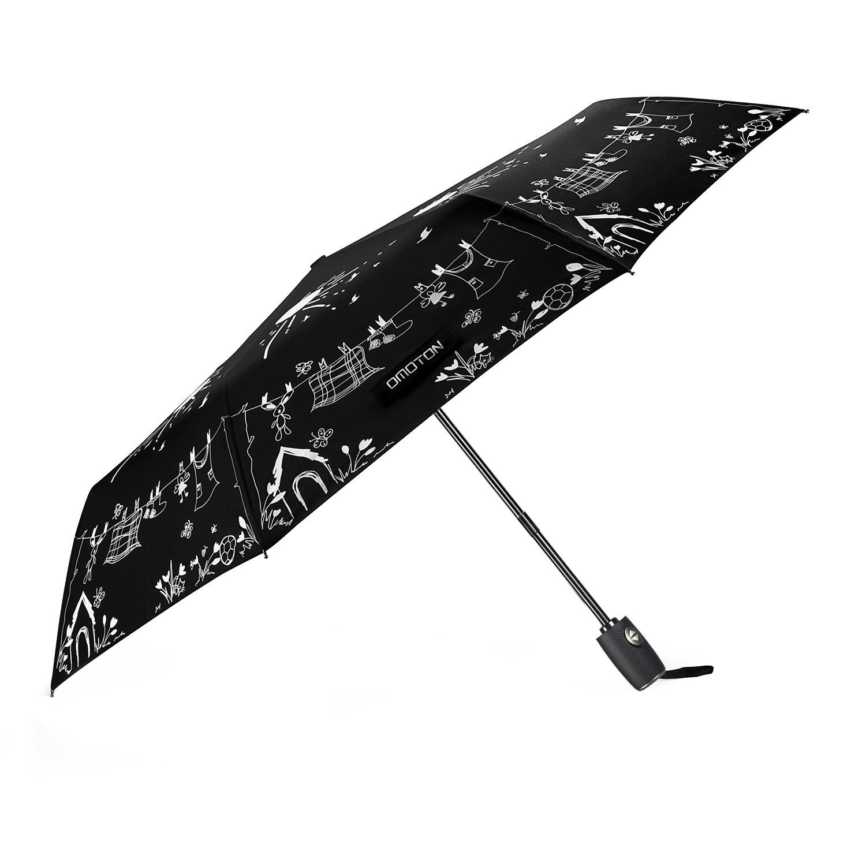 Parapluie Pliable Automatique De Couleur Magique OMOTON Parapluie Pliable De Voyage Incassable Cadeau Id/éal Coupe-Vent En Fibre De Verre Avec 8 Baleines