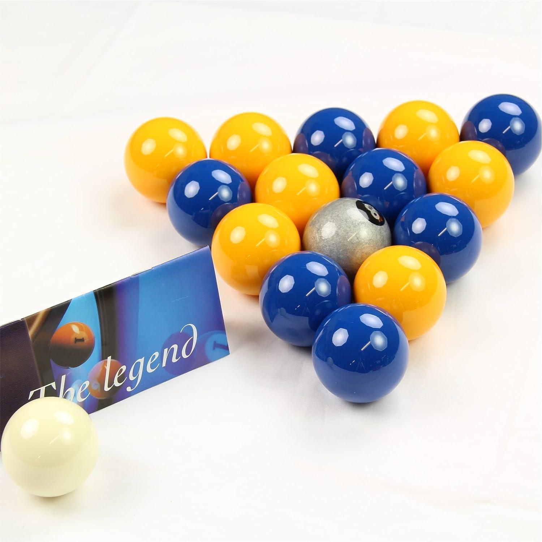 EXCLUSIVA! Aramith Premier SILVER 8 BALL edición azul y amarillo ...
