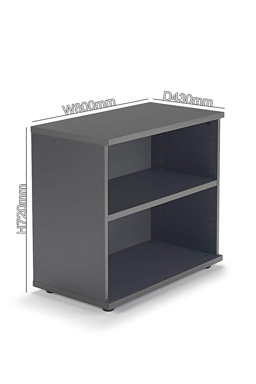 Graphite Grey Office Bookcase