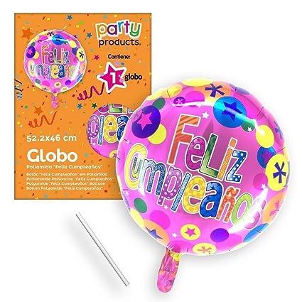Amazon.com: PARTY – Balloon Polyamide, Happy Birthday, 52 x ...