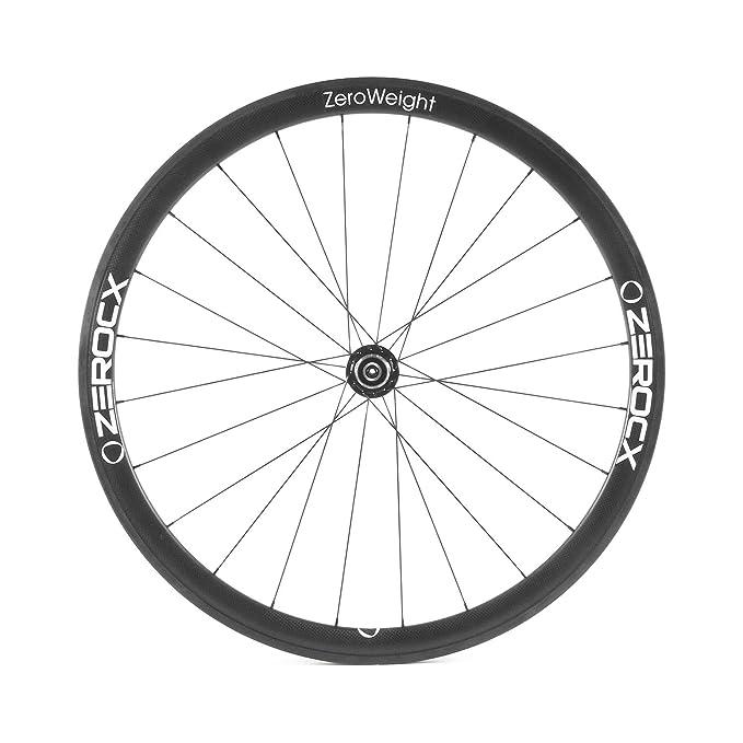 ZeroCx - Rueda trasera de Carbono para carretera - Perfil 38mm Cubierta - Modelo Zero Weight - Campagnolo 10/11v: Amazon.es: Deportes y aire libre