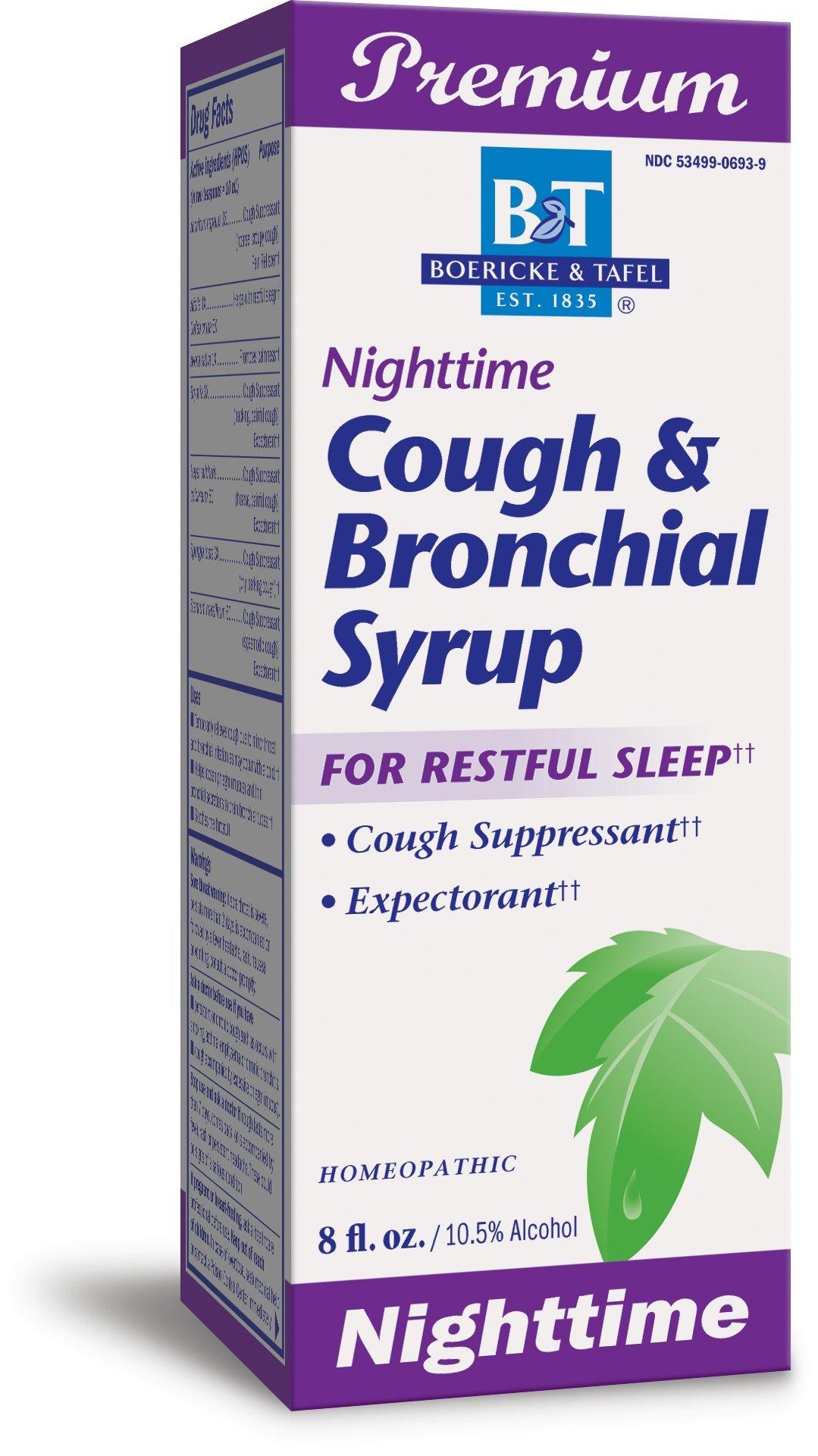 Boericke & Tafel Nighttime Cough & Bronchial Syrup, 8 Ounce
