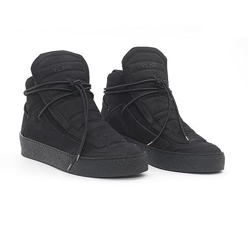 best service 0ae17 be524 Ylati Footwear ulisse-black-nabuk: Amazon.it: Scarpe e borse