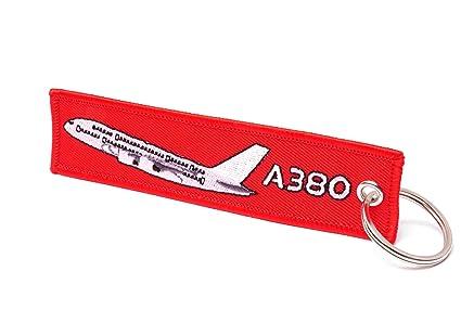 REMOVE BEFORE FLIGHT ® Llavero en rojo | Airbus Edition