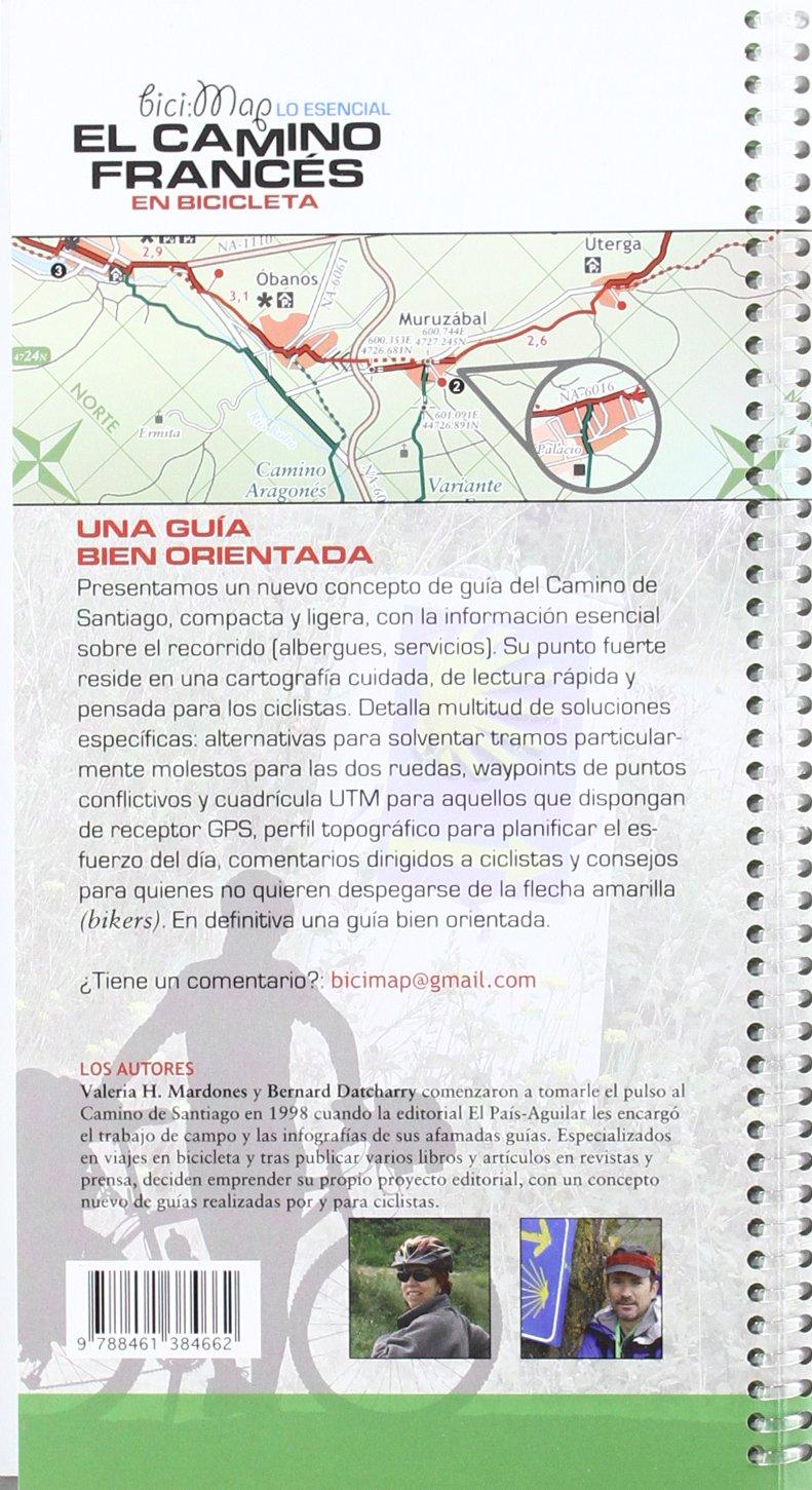 El camino francés: Camino de Santiago en bicicleta Bicimap petirrojo: Amazon.es: Datcharry, Bernard, Mardones, Valeria H.: Libros
