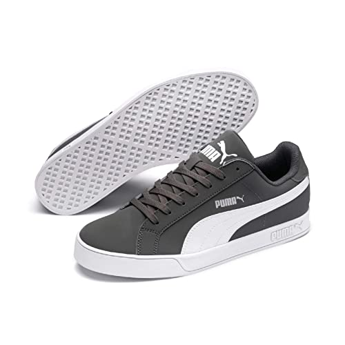 PUMA Smash Vulc Low Boot Sneaker Grau Weiss: Amazon.es
