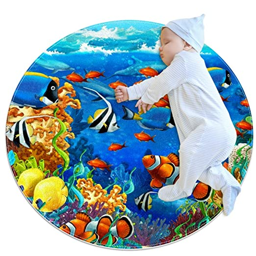 Desheze Criatura submarina (2) Alfombra Redonda Alfombra ...