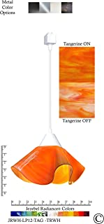 product image for Jezebel Radiance JRWH-LP12-TAG-TRWH White Lily Track Light, Small, Tangerine
