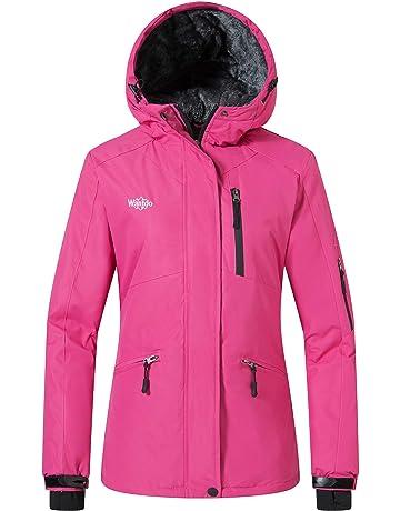 543cc3d239 Wantdo Women s Windproof Ski Jacket Mountain Warm Raincoat Hooded Parka  Waterproof Winter Coat with Fleece Lining