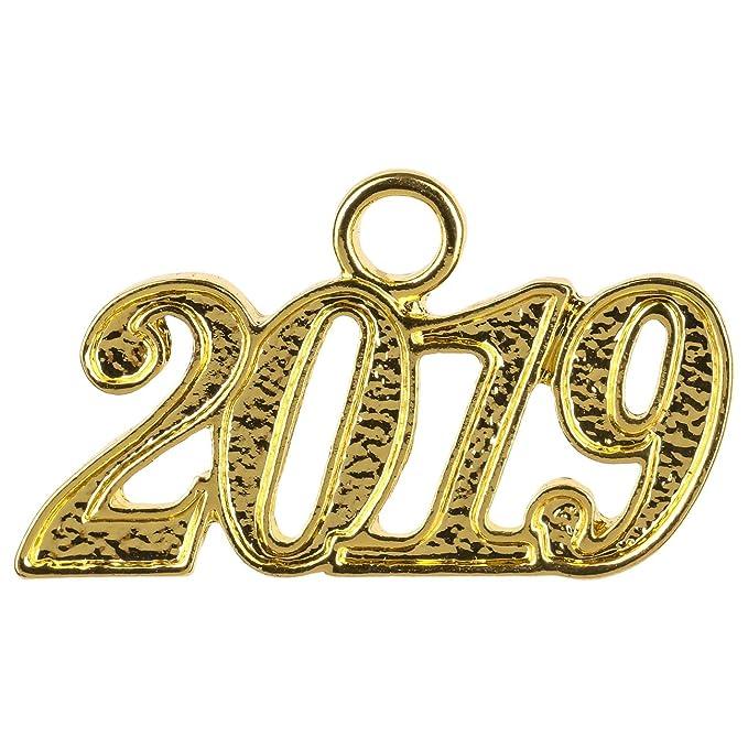 Ciondolo Data 2019 per Cappello di Laurea Cappelli Taglia Unica - Oro   Amazon.it  Abbigliamento 271a3920887d