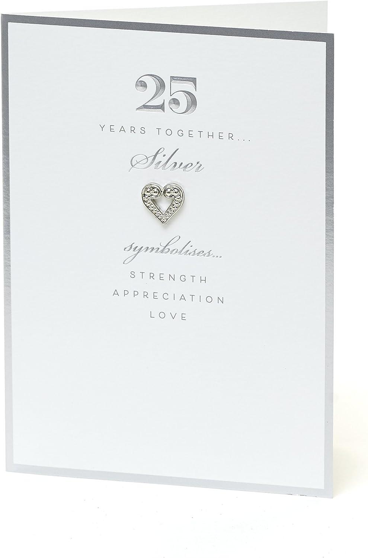 25th Anniversary Card - 25th Anniversary Gifts - Anniversary Gifts - Anniversary Gifts for Him - Anniversary Gifts for Her - 25 Year Anniversary Card - Silver Wedding Anniversary