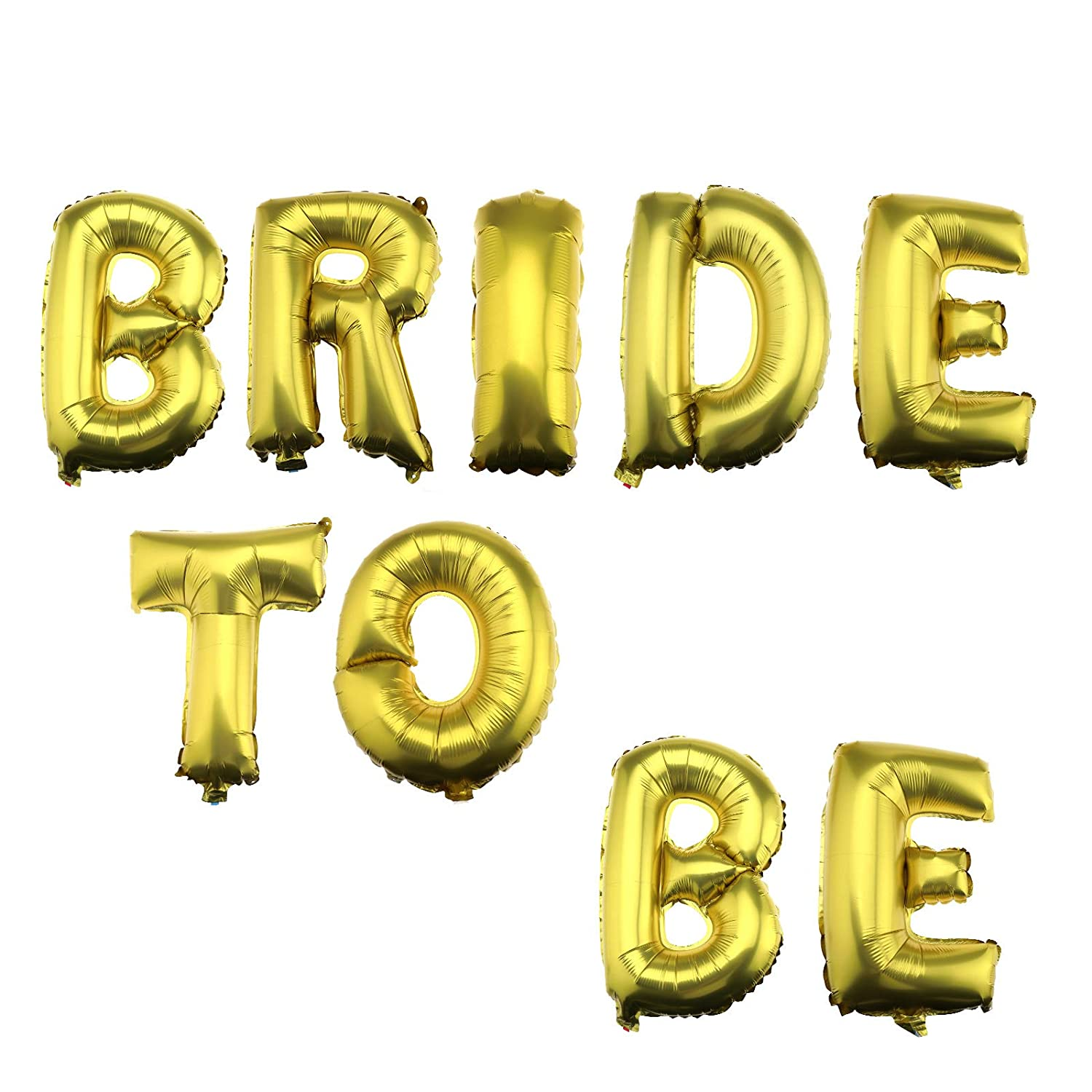 OTOTEC Shiny 16 Foil Balloons BRIDE TO BE Gold Letter for Wedding Bridal Hen Party