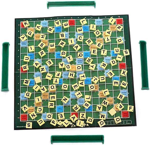 arthomer 100 Piezas de Piezas de Madera del Alfabeto Letras de reemplazo de Scrabble, Letras del Alfabeto Scrabble Piezas de Letras Negras para Manualidades de Arte Educativo para niños DIY Brilliant: Amazon.es: