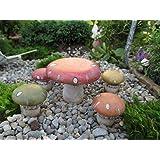 Fairy Garden Mushroom Table With 4 Stools