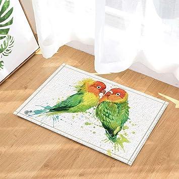 FEIYANG Wasserfarbe Vögel von Zwei schönen Papageien in Liebe Bad ...