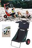 Eckla Beach Rolly mit Sonnendach grün/blau