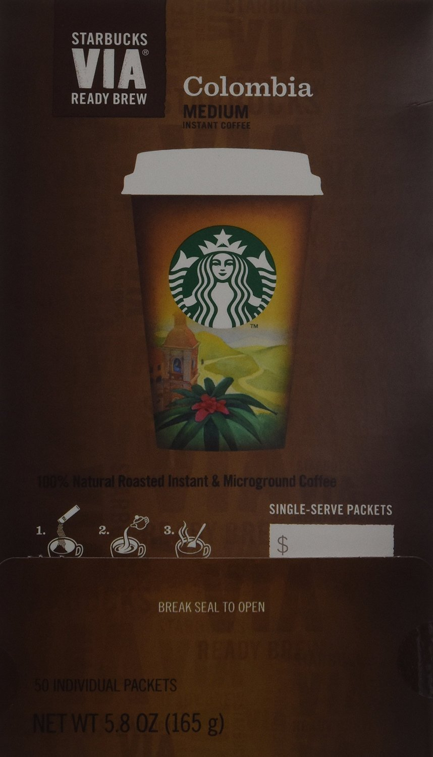 Starbucks VIA Ready Brew Coffee (Colombia, 100 Count)
