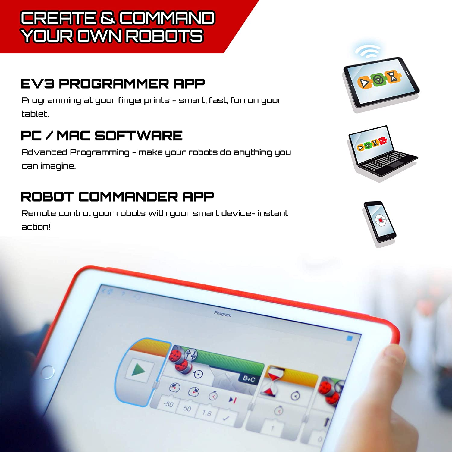 LEGO 31313 Mindstorms EV3 Robotics Kit, 5 in 1 App Controlled Model with  Programmable Interactive Toy Robot, RC, Servo Motor and Bluetooth Hub,  Coding