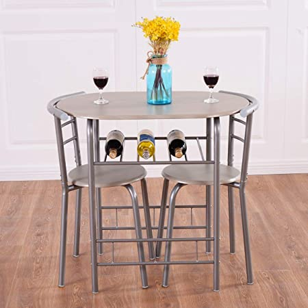 Amazon Com Giantex 3 Piece Dining Set Compact 2 Chairs And Table