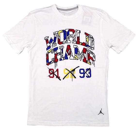 1b69c61ef70a12 Amazon.com  Jordan Men s Retro 8 World Champ T-Shirt X-Large White ...