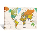 Amazon new ikea premiar world map picture with framecanvas kreative arts large size world map wall art framed art print picture wall decor home gumiabroncs Images