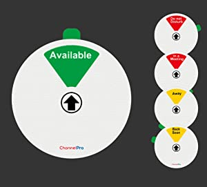 White: 5 Options Office Privacy Sign Do Not Disturb Available Back Soon in a Meeting Away Home Office Work from Home Sign 5 inch