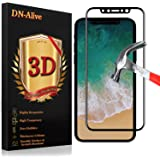 iPhone X Screen Protector, iPhone X Edition Tempered Glass, By DN-Alive [3D Glass] [Black] [9H Hardness] [Anti Scratch] [Shatter Proof] [Easy Installation] [Full Cover - Edge To Edge] [iPhone 10]