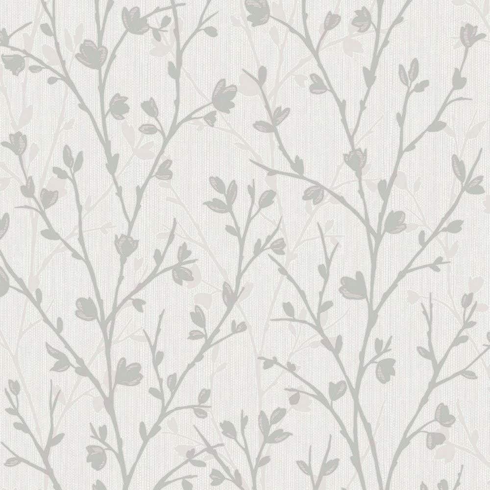 Papel pintado para pared lateral Fine D/écor FD42161 Twiggy color gris