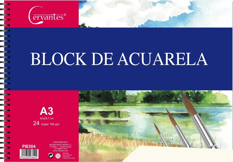 Cervantes PB304 Block de acuarela A3