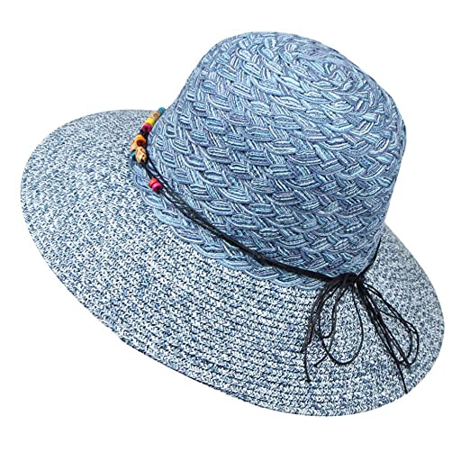 e56ee5e0bad275 YQZB Mens Sun Hat Mesh Bucket Patchwork Fisherman Hats Adjustable Outdoor  Climbing Hiking Cap Blue