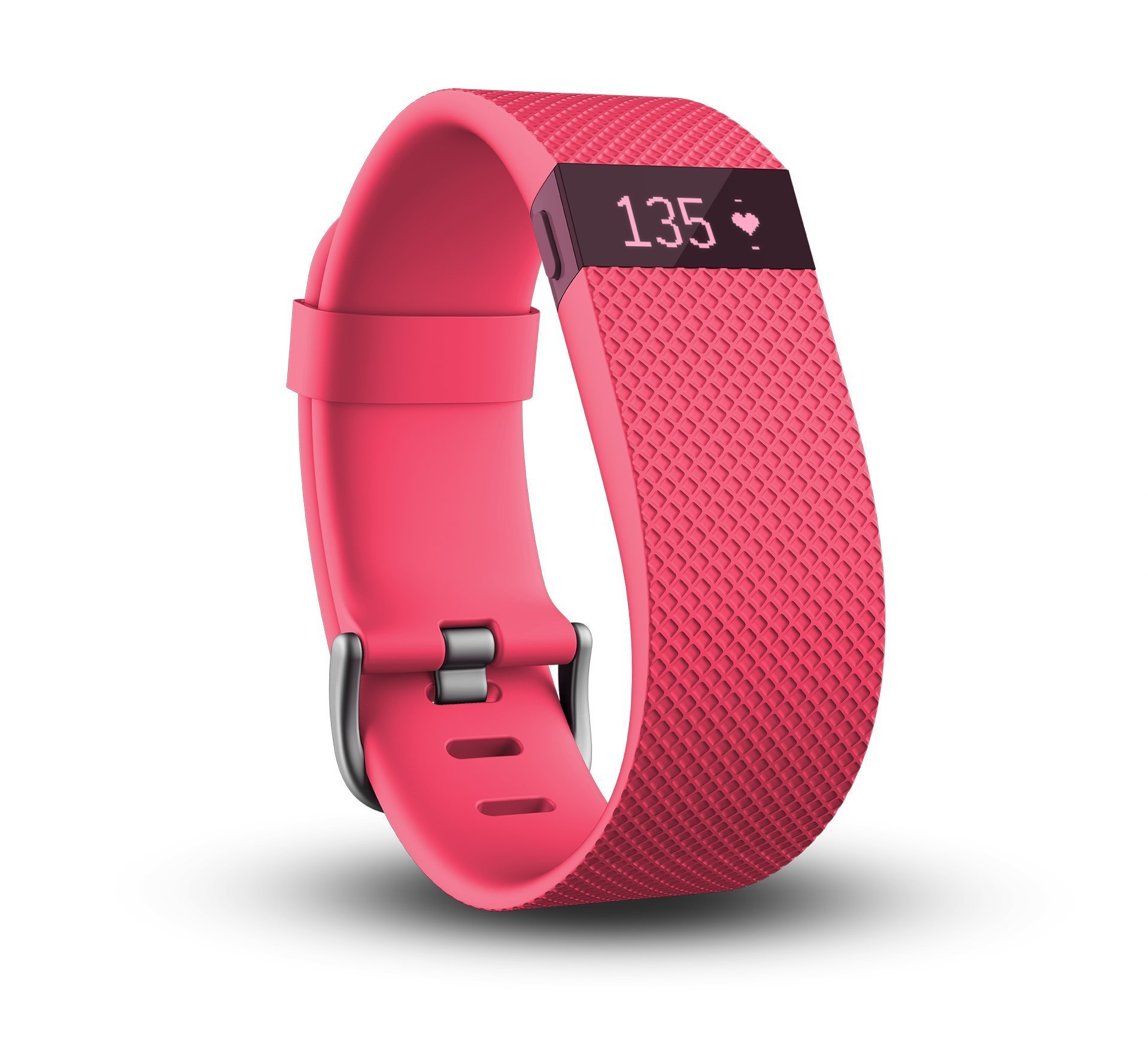 Fitbit Charge HR Wireless Activity Wristband (Pink, Small (5.4 - 6.2 in))