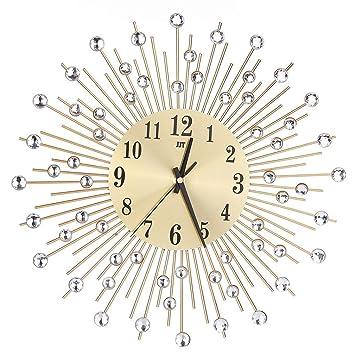 reloj de pared adhesivo grande, Sannysis reloj vintage digital cocina moderno mecanismo 3d (Oro): Amazon.es: Hogar