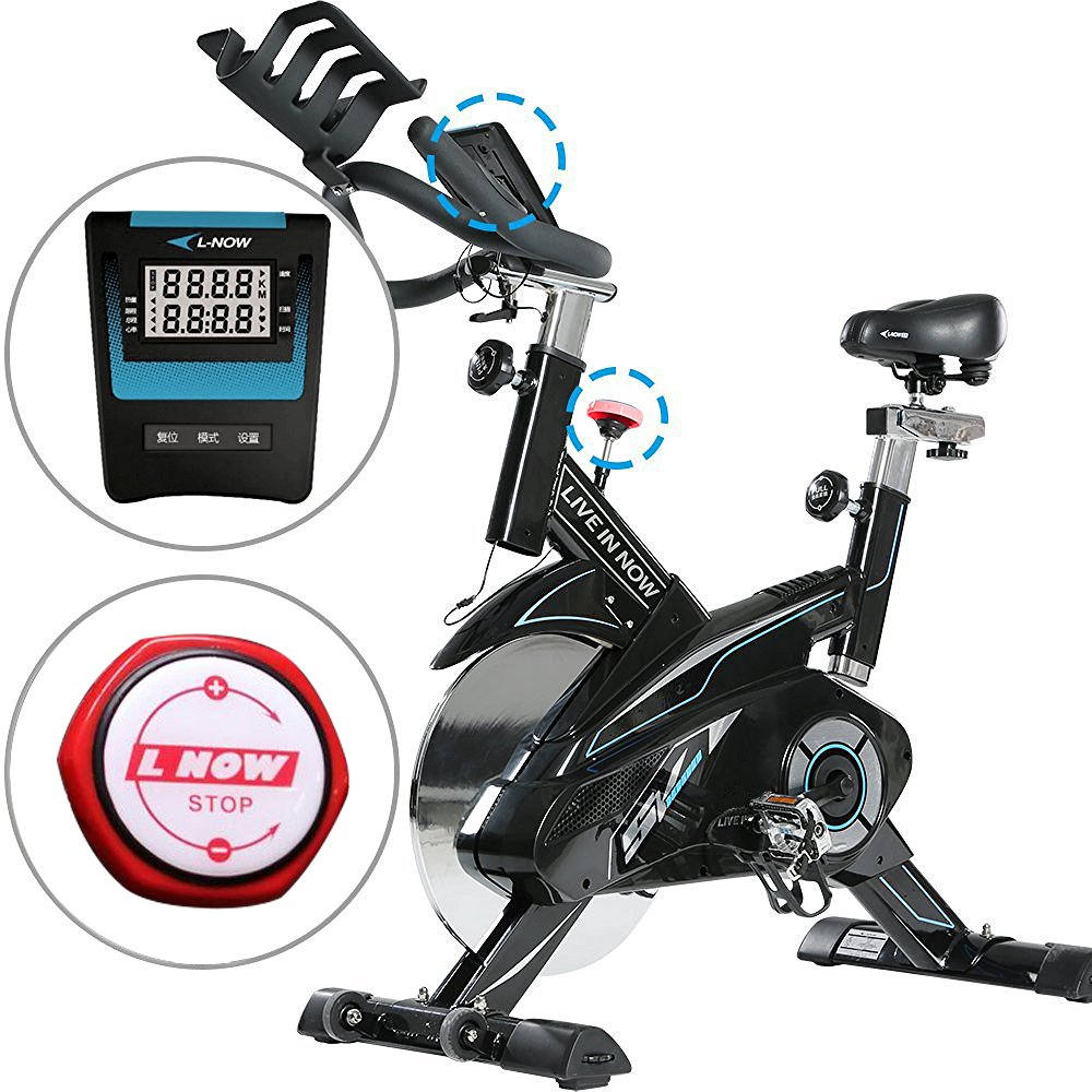 L NOW CycleFire LD-582 Health & Fitness Indoor Stationary Cycling Bike with Pulse for Aerobic and Cardio Exercise and Training(White) by L NOW (Image #5)