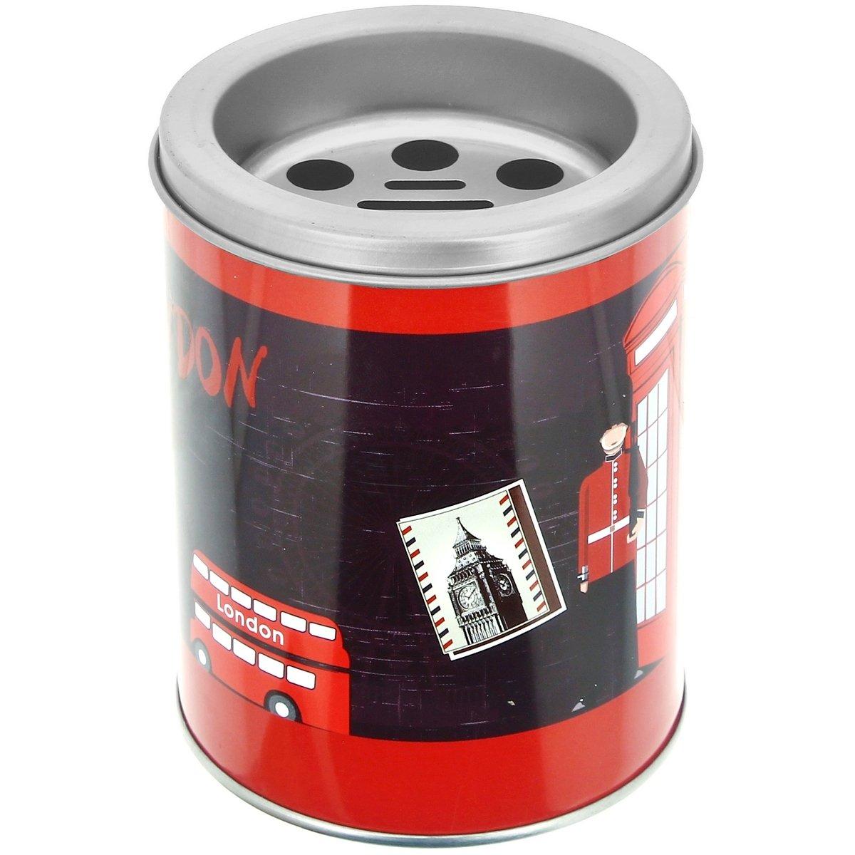 Promobo Cendrier Pot A Crayon 2 en 1 avec Couvercle Design Londres Ré tro Vintage
