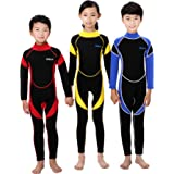 Scubadonkey 2.5 mm Neoprene Full Body Wetsuit for Kids | Jellyfish Repelling | for Scuba Diving Wind Surfing Kayaking Swimming
