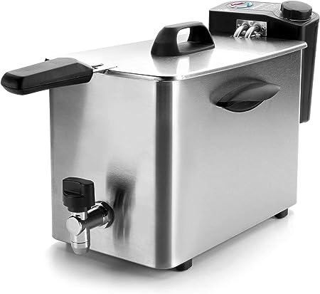 Lacor 69134 69134-Freidora eléctrica, 4 L, 2500 W, 4 kg, Acero inoxidable: Amazon.es