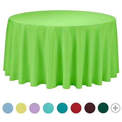 Amazoncom VEEYOO Tablecloth Inch Round Solid Polyester For - Restaurant table accessories