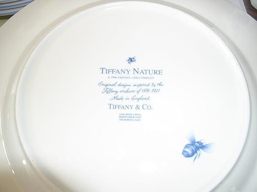 Amazon.com | Tiffany u0026 Co. NATURE 4pc Placesetting u0027PEONYu0027 Dinnerplate Dinnerware Sets Dinnerware Sets & Amazon.com | Tiffany u0026 Co. NATURE 4pc Placesetting u0027PEONY ...