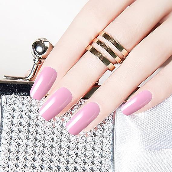 3 colores de gel constructor, Saviland Nail Extension Gel Nail Art pegamento cepillo bandeja de papel manicura Set Nail Art UV Gel extraíble sin dolor gel 8 ...