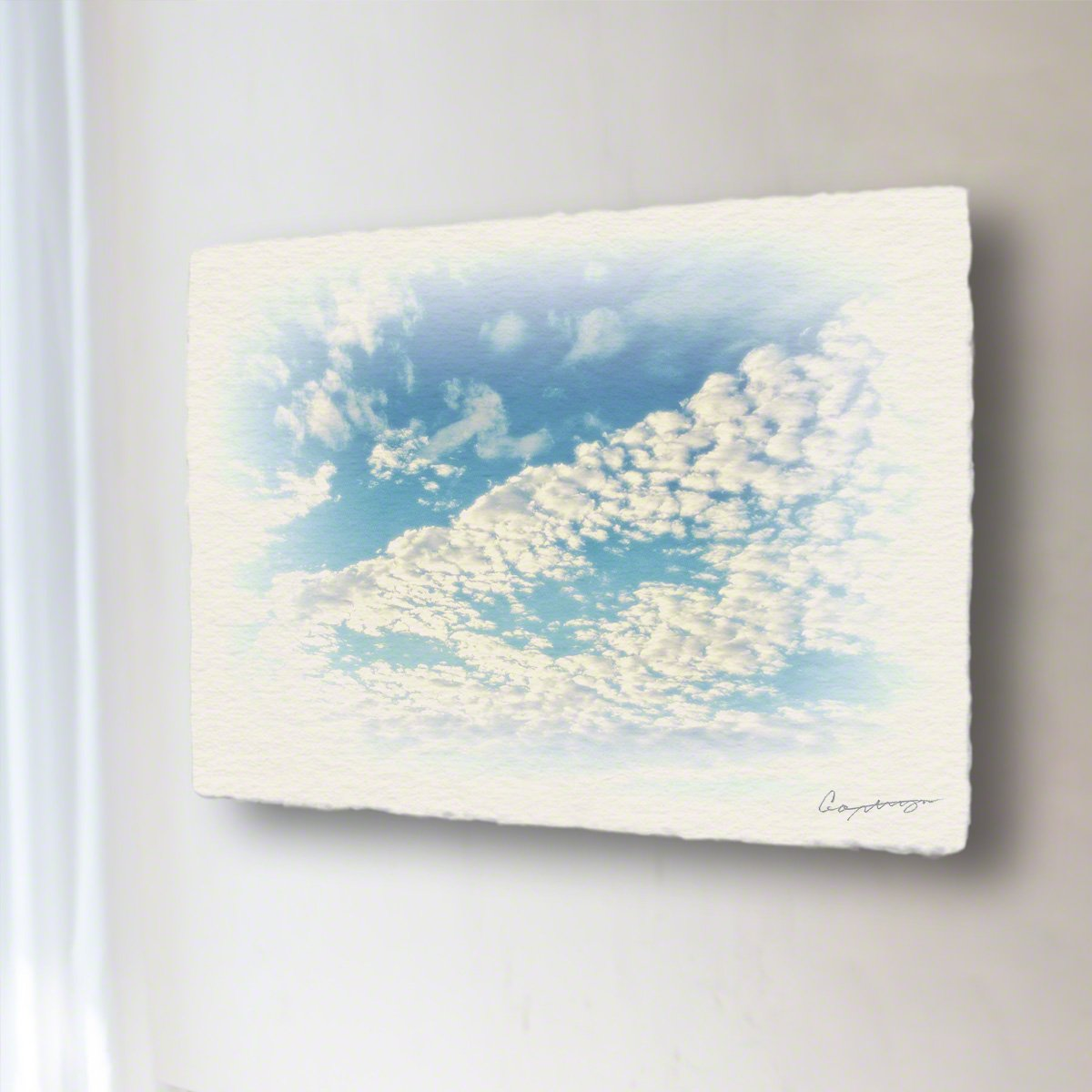 和紙 アートパネル 「青空に輝くうろこ雲」 (48x36cm) 絵 絵画 壁掛け 壁飾り インテリア アート B074XCK4NT 15.アートパネル(長辺54cm) 29800円|青空に輝くうろこ雲 青空に輝くうろこ雲 15.アートパネル(長辺54cm) 29800円
