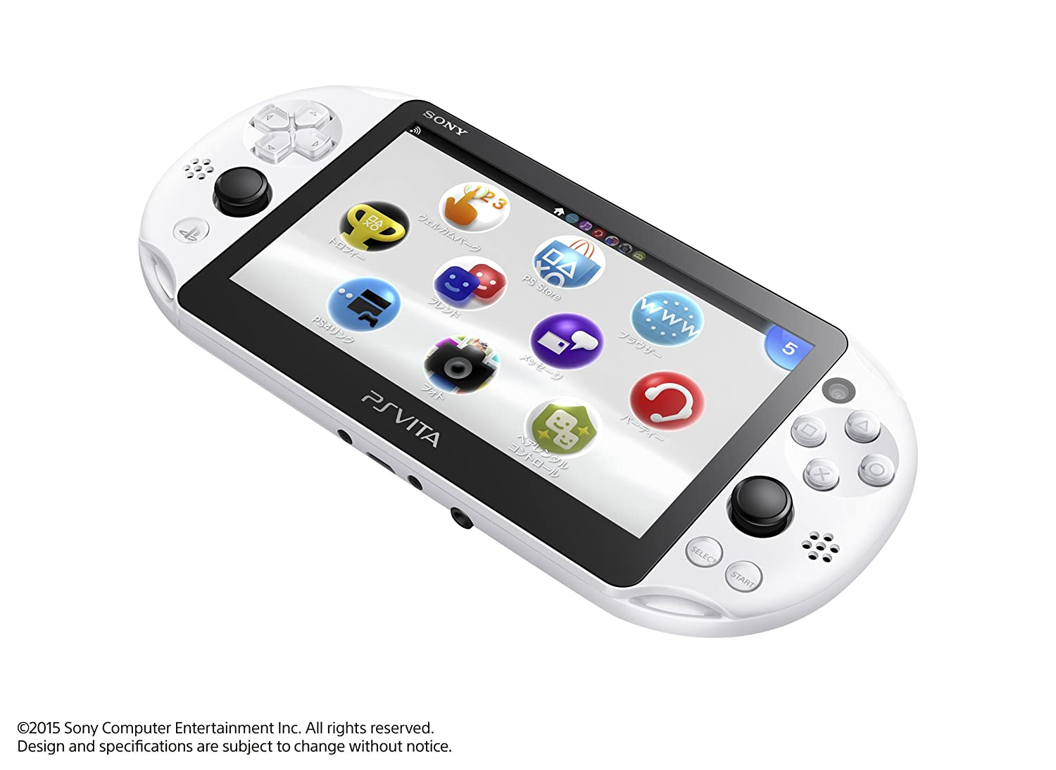 PlayStation Vita Wi-Fi model Glacier White PCH-2000ZA22 Japanese Ver. Japan Import