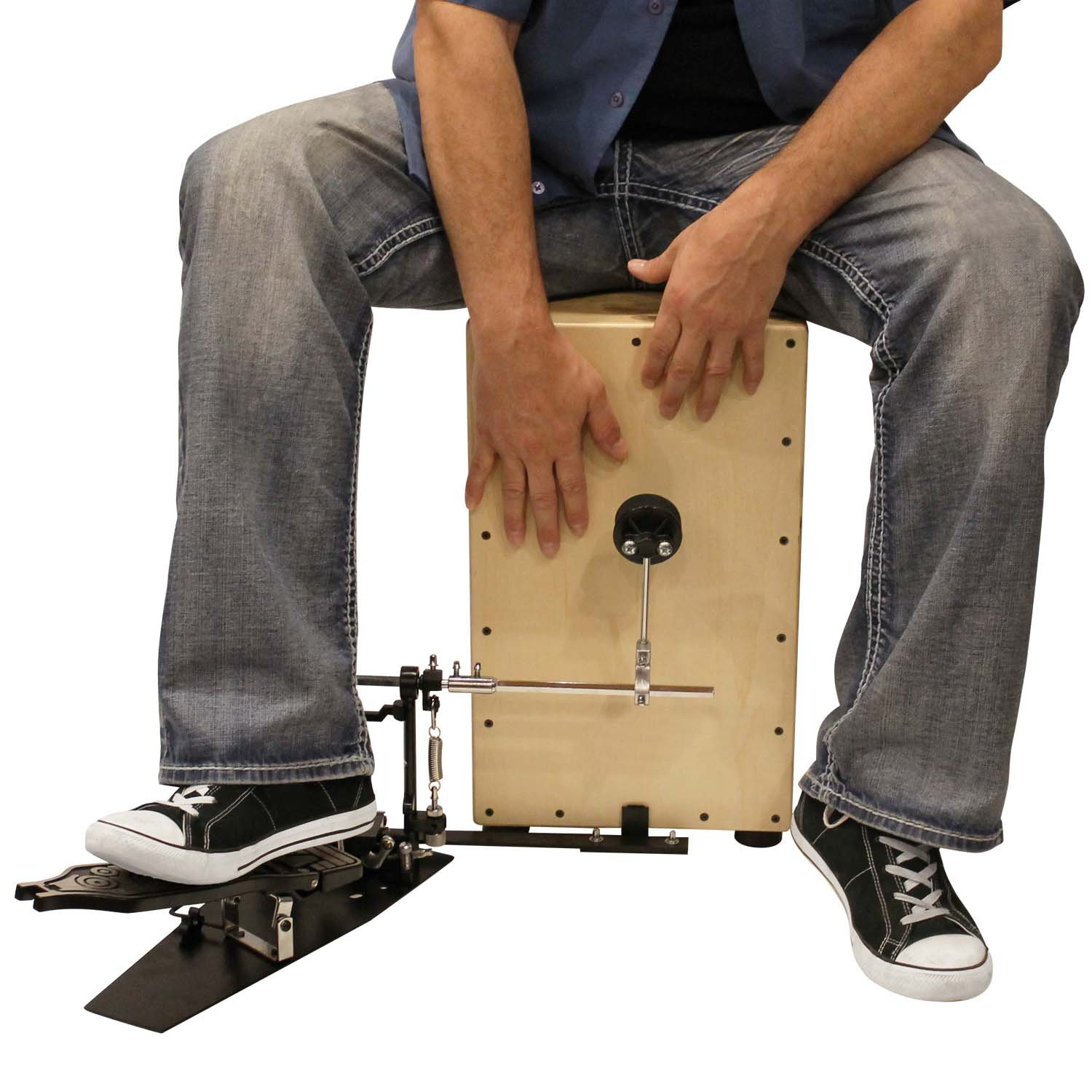 Sawtooth ST-CJ121SL-KIT-1 Maple Back and Sides Ash Wood Cajon with Seat Pad and Carry Bag
