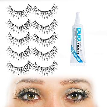 4ee79119333 Criss-crossed Medium Length Volume False Eyelashes: Long and Short Black  Fake Eyelashes in