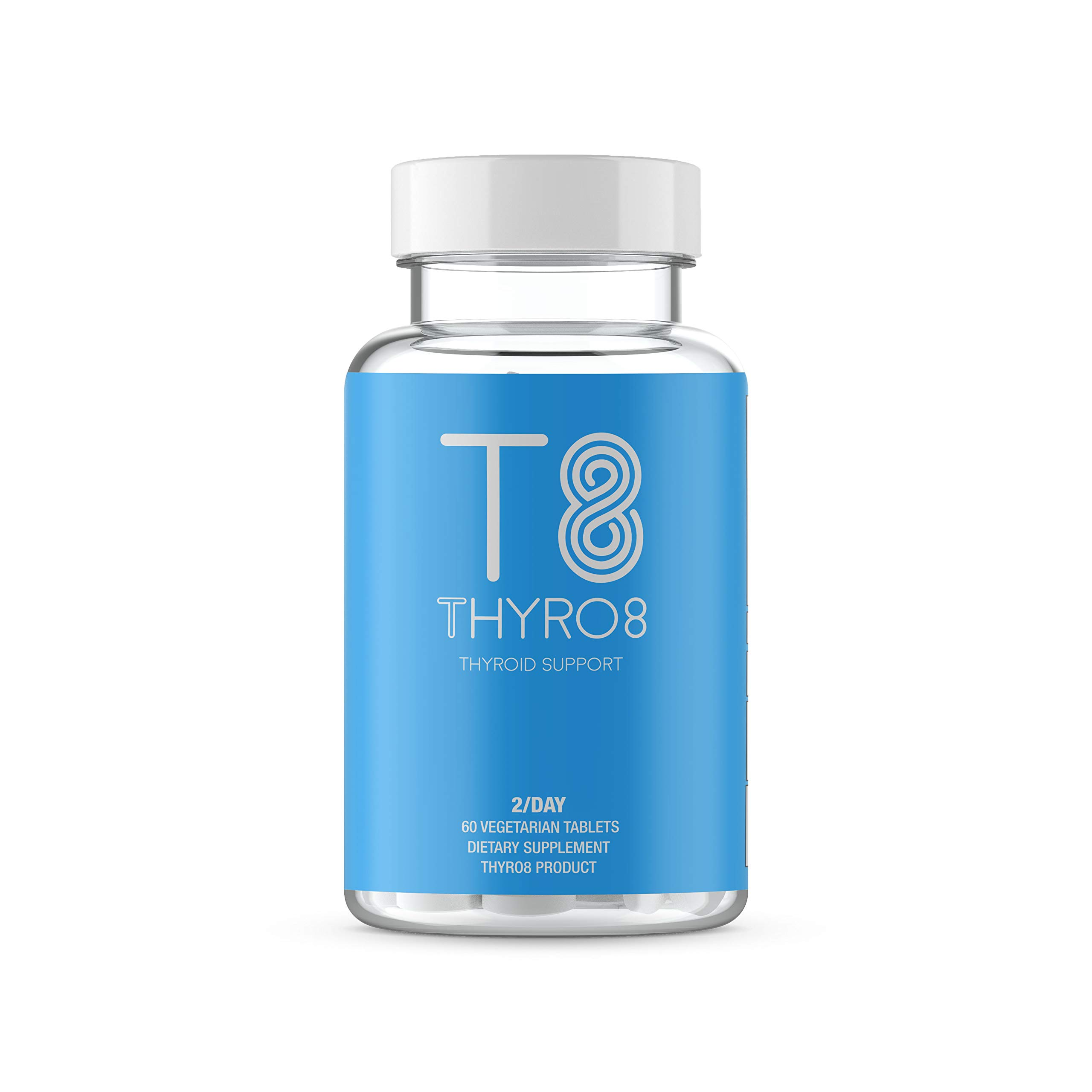 Thyroid Support Supplement T8 With Iodine - Feel Better Formula For Improved Focus, Metabolism, & Better Energy - 60 Tablets - 100% Money Back Guarantee