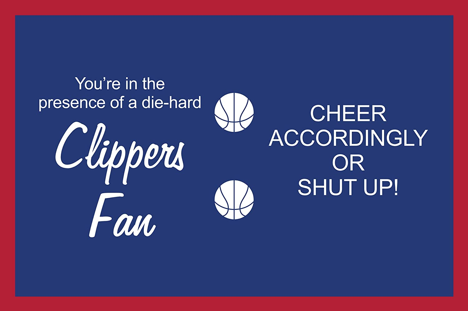 16-Ounce Tree Free Tree-Free Greetings sg24151 Clippers Basketball Fan Sip N Go Stainless Steel Lined Travel Tumbler