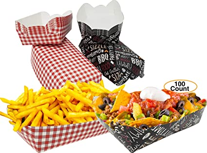 Amazon.com: Bandeja de papel desechable única para picnics ...