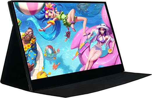 Monitor portátil portátil WIMAXIT de 15,6 pulgadas, pantalla táctil IPS-HD 1920 x 1080 16: 9 HDMI, interfaz de 2 tipos C (USB C), altavoces integrados, soporte VESA para portátil, gaming, monitor de trabajo: Amazon.es: Electrónica