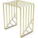 U Brands Metal Letter Sorter, Desktop Accessory, Vena Collection, Gold (3276U03-12)