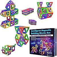 Desire Deluxe Magnetiska byggstenar 40 st byggleksaker set för barnspel | STEM Kreativitet pedagogiska magneter…