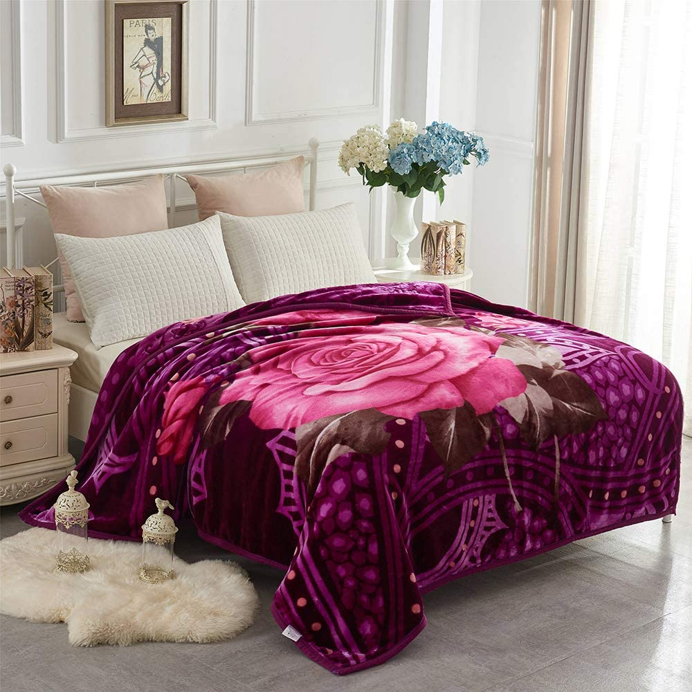 2ply Heavy Thicken Warm Soft Bed Blanket Throw Double Sided Queen King Size Sell